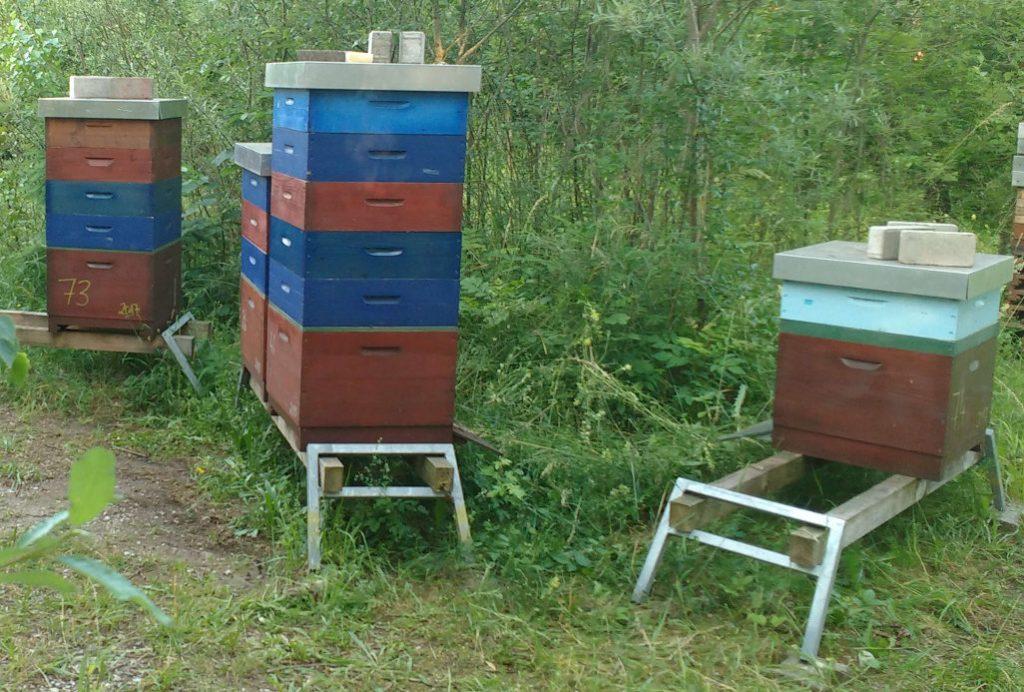 Beutenständer, Aufsteller, selber machen, modifiziert für mehr Honigräume geeignet.